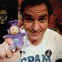 Larz with Tinky Winky